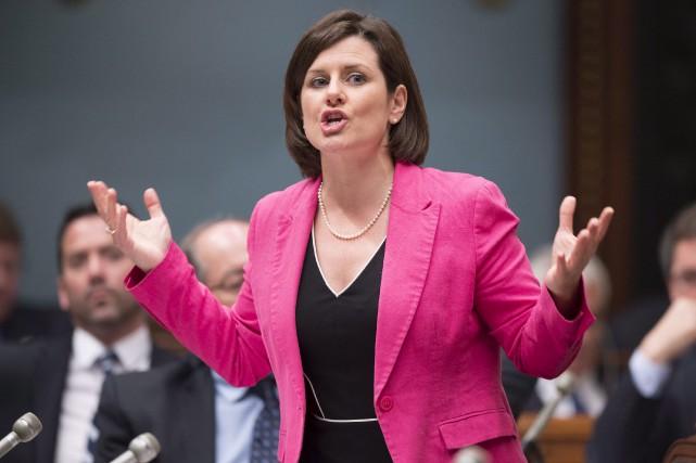 La ministre Stéphanie Vallée... (Archives La Presse Canadienne, Jacques Boissinot)