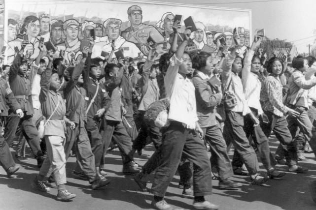 Image des gardes rouges en 1966.C'est grâce à... (Archives AFP)