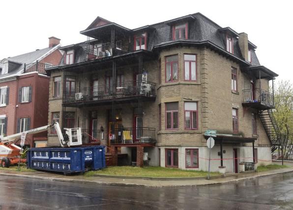Un chantier de rénovation d'un immeuble à logements de la rue Laviolette, à... (François Gervais)