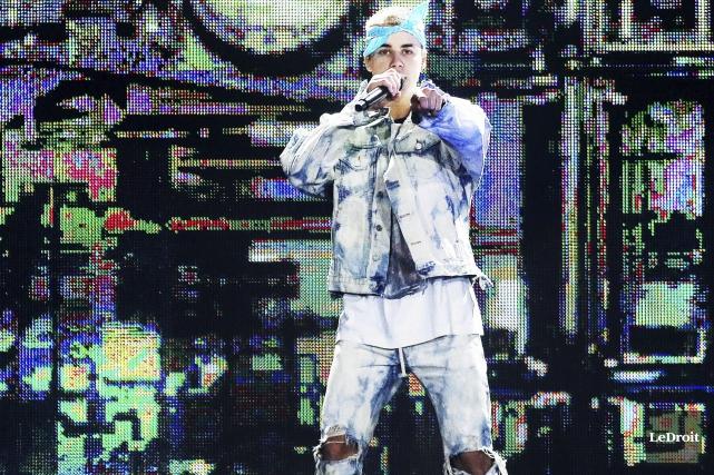 Justin Bieber a offert une prestation plutôt mécanique,... (Etienne Ranger, LeDroit)