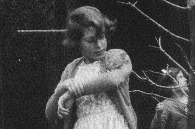 Élisabethregarde tendrement un oiseau perché sur son bras.... (PHOTO FOURNIE PAR LE PALAIS DE BUCKINGHAM)