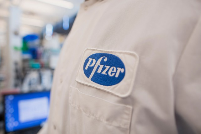 Pfizer explique que la distribution de sept produits... (PHOTO SCOTT EISEN, ARCHIVES BLOOMBERG)