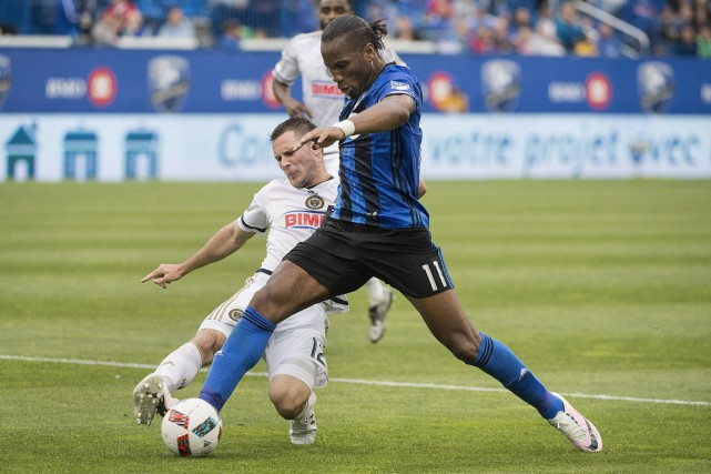 Drogba a marqué l'unique but de l'Impact.... (Photo La Presse Canadienne)