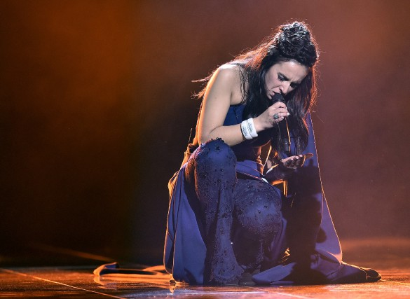 Jamala a chanté la chanson 1944 sur la... (Associated Press)