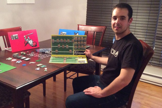 Nicholas Lallemand a imaginé Franchise, un jeu de... (Photo courtoisie)