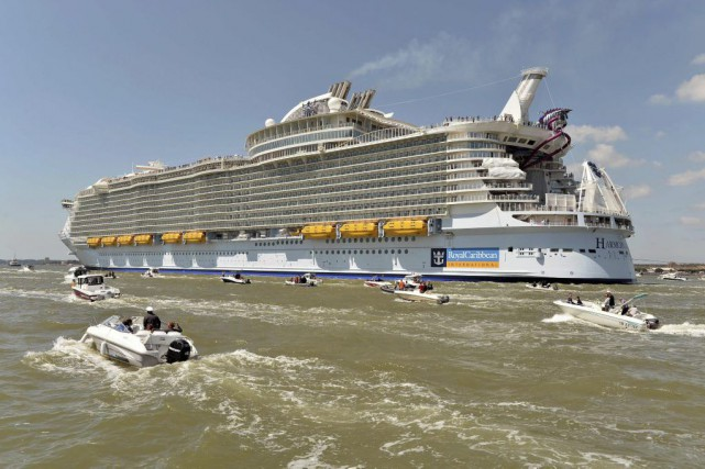 Le Harmony of the seas.... (PHOTO JEAN-FRANCOIS MONIER, AGENCE FRANCE-PRESSE)