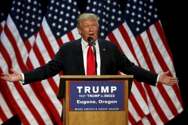 Donald Trump a prononcé un discours à Eugene,... (PHOTO JIM URQUHART, ARCHIVES REUTERS)