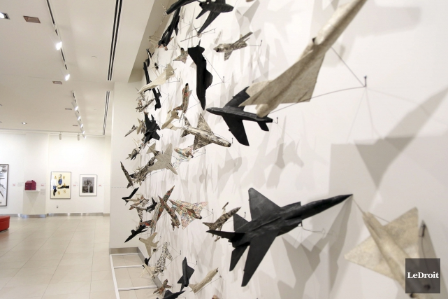 L'oeuvre soulignant l'attentat du vol 182 d'Air India,... (Etienne Ranger, LeDroit)