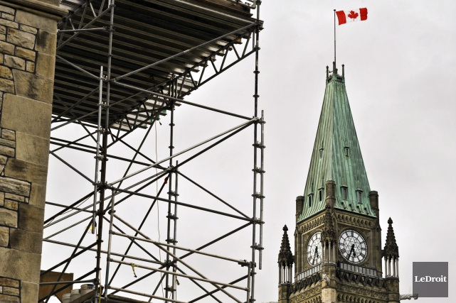 Les rénovations au parlement canadien ont commencé en... (Martin Roy, LeDroit)