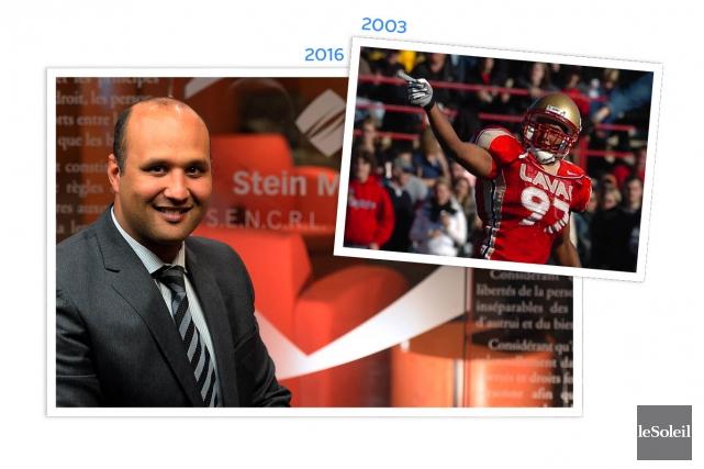 L'ex-joueur de football du Rouge et Or de... (Infographie Le Soleil)