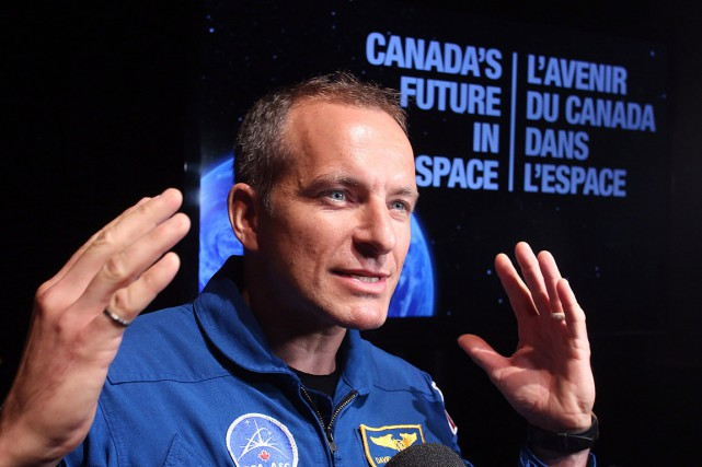 L'astronaute québécois David Saint-Jacques.... (Archives La Presse Canadienne, Fred Chartrand)
