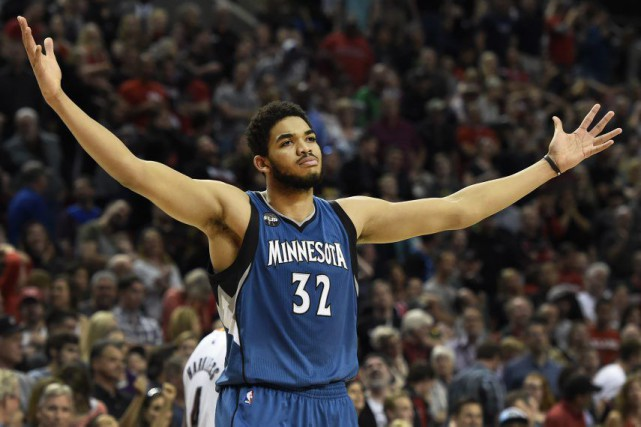 Karl-Anthony Towns... (Photo Steve Dykes, archives Associated Press)