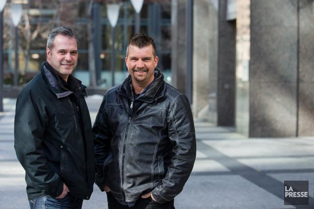 Frédérick Soucy et Stephen Authier ont mis en... (PHOTO ÉDOUARD PLANTE-FRÉCHETTE, LA PRESSE)