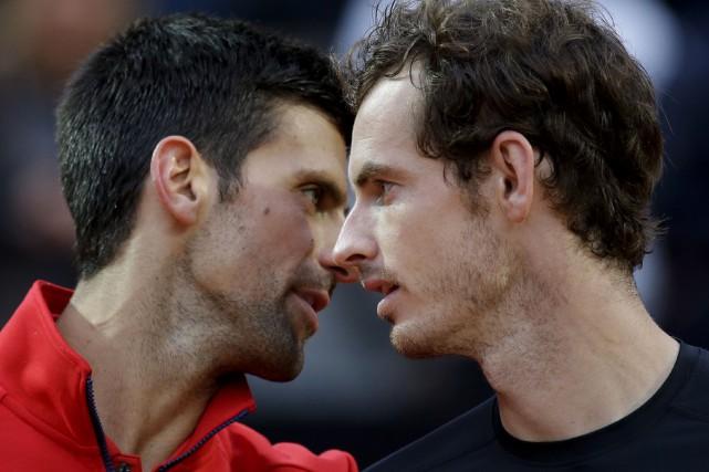 Andy Murray l'a emporté devant Novak Djokovic à... (AP, Alessandra Tarantino)