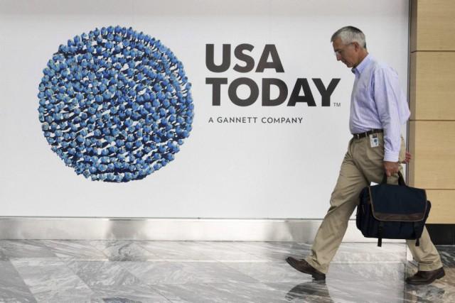 L'éditeur Gannett, propriétaire du USA Today, a amélioré d'environ 22... (PHOTO PAUL J. RICHARDS, ARCHIVES AFP)