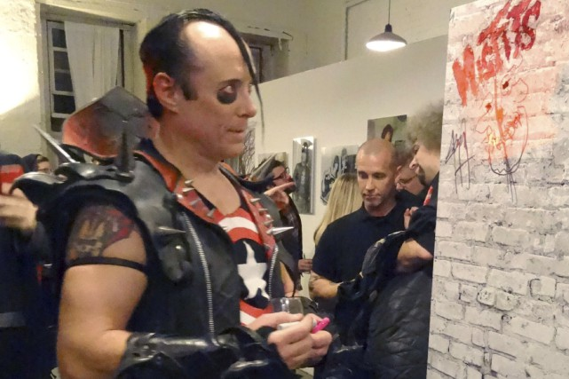 Le bassiste des Misfits, Jerry Only... (AFP, Shaun Tandon)