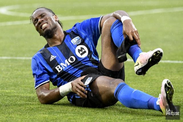 DidierDrogba s'est blessé lors du match nul entre... (PHOTO BERNARD BRAULT, LA PRESSE)