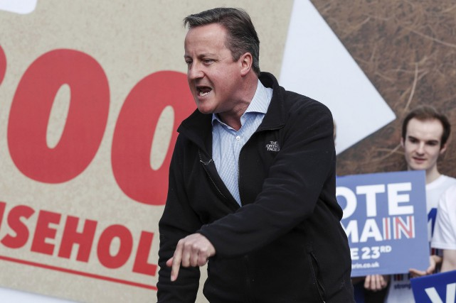 David Cameron avait qualifiéla proposition de Donald Trump... (AFP, Eddie Keogh)