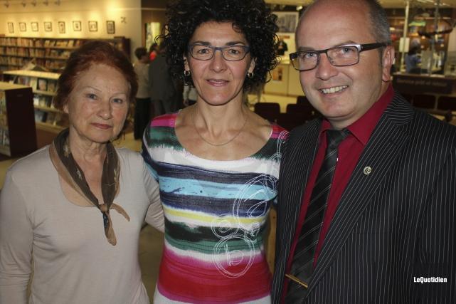 Anne-Marie Lamontagne, des Amis de la musique, Tania... (Photo Le Quotidien, Isabelle Tremblay)