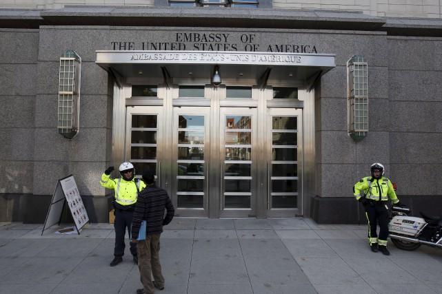 L'ambassade américaine sera également de la partie, mais... (Archives, La Presse Canadienne)