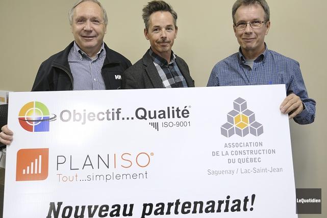 Martial Tremblay, vice-président à l'organisation de Planiso, et... (Photo Le Quotidien, Mariane L. St-Gelais)