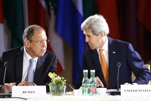 Le chef de la diplomatie américaine John Kerry... (PHOTO LEONHARD FOEGER, AP)