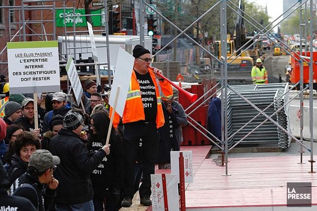 Les ingénieurs de la Ville de Montréal se... (Photo Patrick Sanfaçon, La Presse)