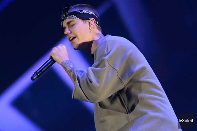 Justin Bieber lors de son spectacle au Centre... (Photo Erick Labbé, Le Soleil)