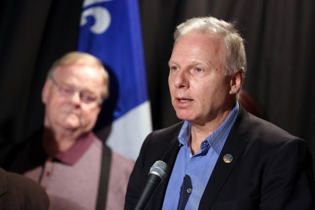 Promettant de faire du Parti québécois «un ostie... (Photo Martin Chamberland, Archives La Presse)