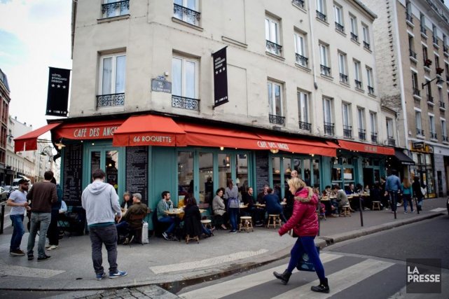 Le Café des Anges, où a eu lieu... (PHOTO DAVID BOILY, LA PRESSE)