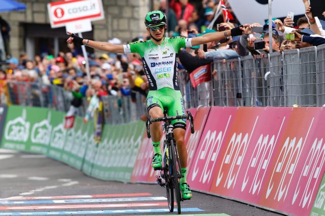 L'Italien Giulio Ciccone a remporté la 10eétape du... (Photo Luk Benies, AFP)