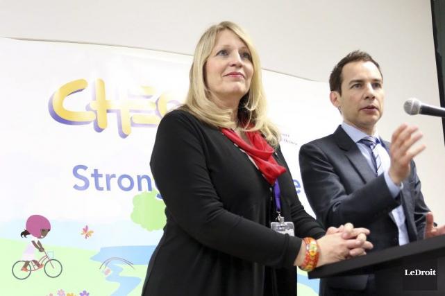 Kathleen Stokely, PDG du CTEO, et Alex Munter,... (Étienne Ranger, LeDroit)