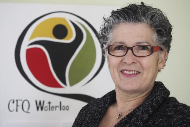 La présidente du cercle de Fermières de Waterloo,... (Photo Alain Dion)