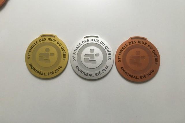 Les médailles des jeux du Québec de Montréal... (Photo courtoisie)