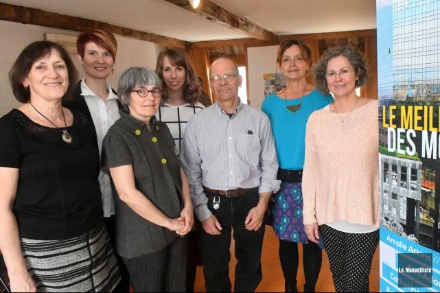De gauche à droite: Lise Barbeau, directrice des... (Stéphane Lessard, Le Nouvelliste)