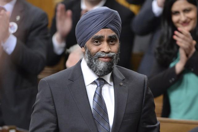 Le ministre de la Défense nationale Harjit Sajjan... (La Presse Canadienne)