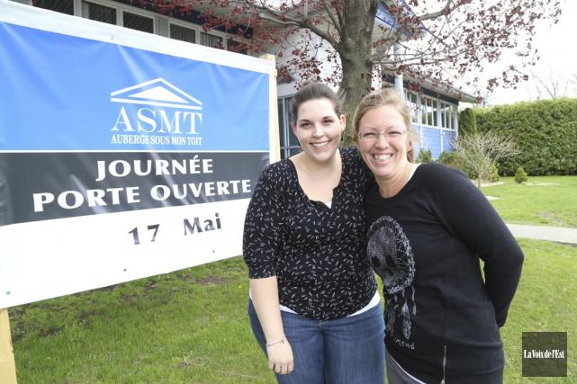 Manuella Tremblay et Kim Doré font partie de... (Janick Marois, La Voix de l'Est)