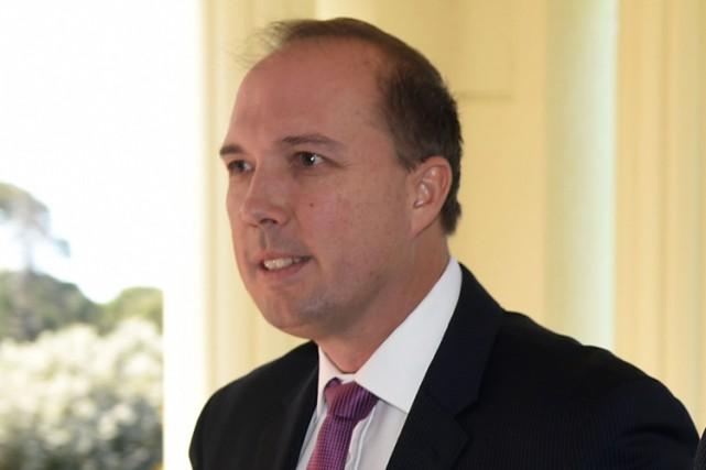 Le ministre australien de l'Immigration,Peter Dutton.... (PHOTO AFP)