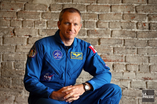 L'astronaute David Saint-Jacques... (Photo Martin Chamberland, La Presse)