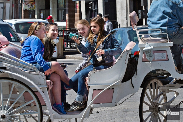 La Ville de Montréal interdira les calèches cet... (Photo Patrick Sanfaçon, La Presse)