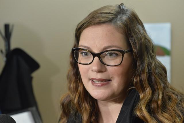 La députée de Richmond Karine Vallières... (Spectre Média, Maxime Picard)