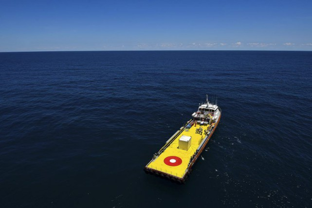 En avril, à 33 kilomètres des côtes du... (PHOTO RONALDO SCHEMIDT, AGENCE FRANCE-PRESSE)