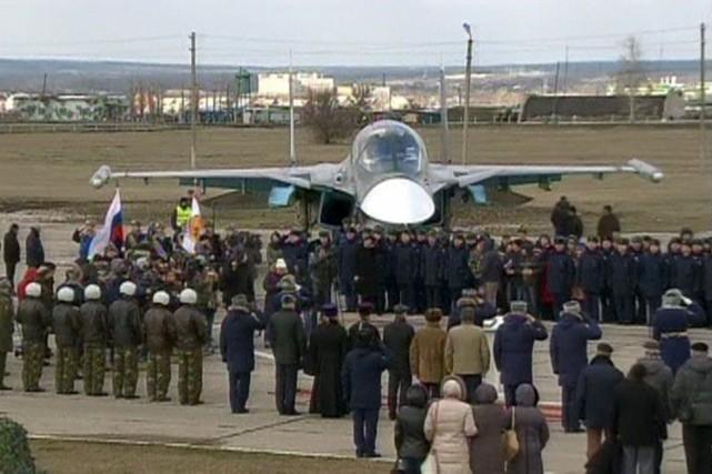 Le retour des avions militaires avait été souligné... (Photo archives Reuters/Ministère russe de la Défense)