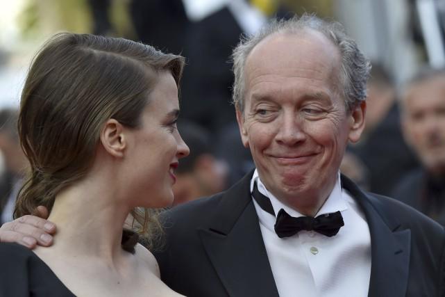 Adèle Haenel et Luc Dardenne sur le tapis... (AFP, Loïc Venance)