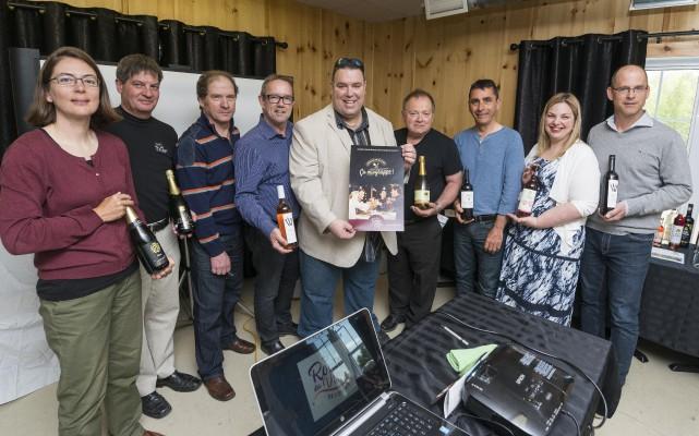 Des vignobles estriens lançaient mercredi l'édition 2016 de... (Spectre média, Frédéric Côté)