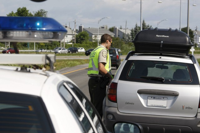 Plus de 3000 contraventions ont été délivrées à... (Fournie par la Sûreté du Québec)
