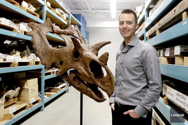«On a plusieurs espèces de dinosaures à cornes... (Patrick Woodbury, LeDroit)