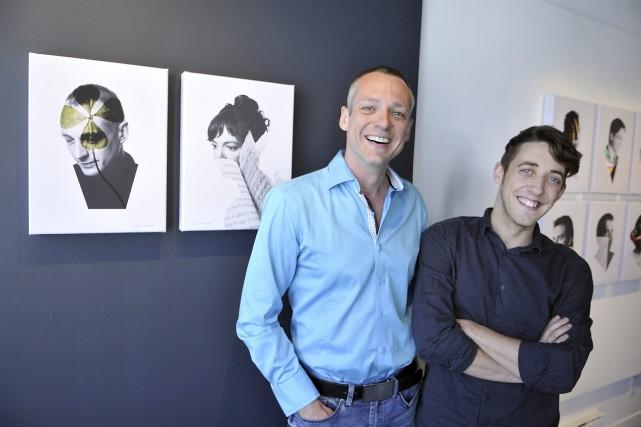 Dany Lefrançois et Patrick Simard sont photographiés à... (Photo Le Progrès-dimanche, Rocket Lavoie)