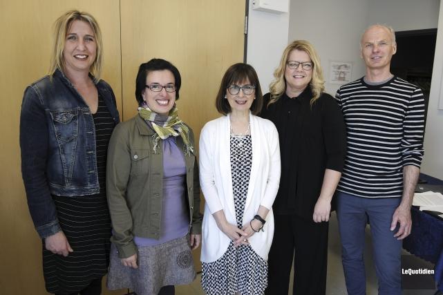 Véronique Gagné, Justine Lévesque, Guylaine Simard, Alexandra Fortin... (Photo Le Quotidien, Mariane L. St-Gelais)