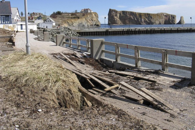 Ce printemps, Percé ne répare pas les dégâts causés par les tempêtes sur sa... (fournie par Vachon Roy Architectes)